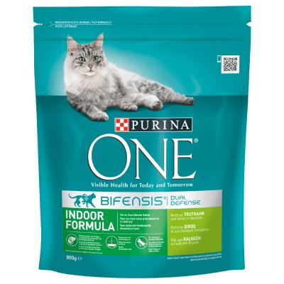 Purina ONE Bifensis Gatos de interior pavo