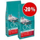 Purina ONE Bifensis ração para gatos 2 x 9,75 kg  a preço especial!