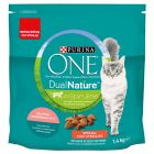 PURINA ONE Dual Nature Chat Stérilisé saumon, spiruline