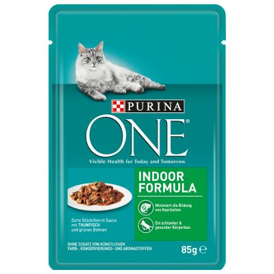 Purina ONE Gatos de interior 6 x 85 g