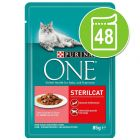 Purina ONE para gatos 48 x 85 g - Pack económico