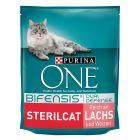 Purina ONE Sterilcat для стерилизованных кошек с лососем