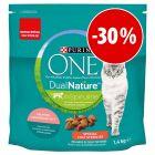 Purina ONE Sterilised Dual Nature 1,4 kg a preço especial!