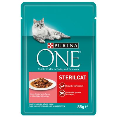 Purina ONE Sterilised mit Lachs & Karotten