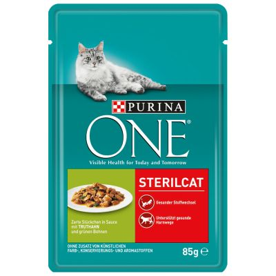 PURINA ONE Sterilised 6 x 85 g pour chat