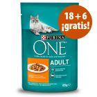 Purina One 24 x 85 g comida húmeda para gatos en oferta: 18 + 6 ¡gratis!