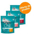 Purina ONE 3 x 800 g pienso para gatos - Pack de prueba