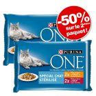PURINA ONE 2x 4 x 85 g pour chat : 50 % de remise sur le deuxième paquet !