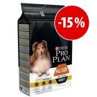 Purina Pro Plan All Size Adult Light Sterilised OptiWeight 7 kg com desconto!