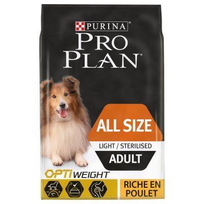 PURINA PRO PLAN All sizes Adult Light/Sterilised poulet