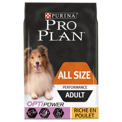 PURINA PRO PLAN All sizes Adult Performance poulet