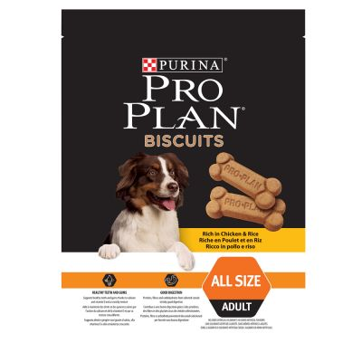 Purina Pro Plan galletas con pollo y arroz