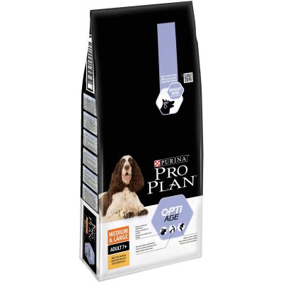 Purina Pro Plan Medium & Large Adult 7+ OptiAge pollo