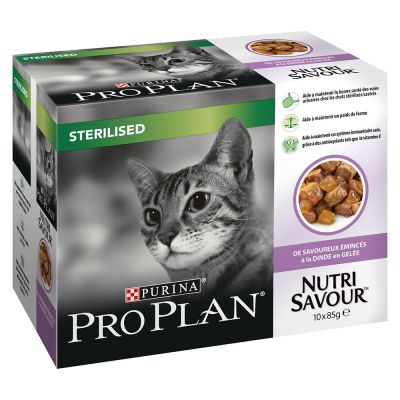 PURINA PRO PLAN Nutrisavour Sterilised pour chat