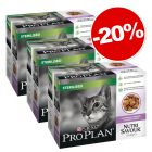 PURINA PRO PLAN Nutrisavour Sterilised 30 x 85 g : 20 % de remise !