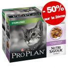 PurinaPRO PLAN Nutrisavour Sterilised 2 x 20 x 85 g : 50 % de remise sur le 2ème!