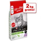 Purina Pro Plan Sterilised Adult ração 12 kg em promoção: 10 kg + 2 kg grátis!