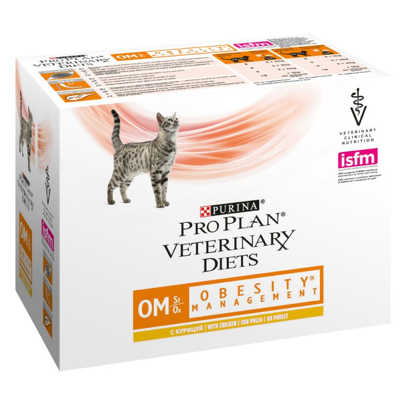 PURINA PRO PLAN Veterinary Diets Feline OM ST/OX Obesity Management pour chat