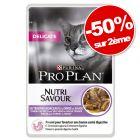 PURINA PRO PLAN 2 x 24 x 85 g chat : 50 % de remise sur le 2ème paquet !