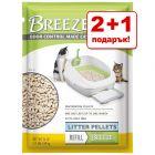 2 + 1 подарък! Purina Tidy Cats Breeze постелка или подложки