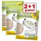 Purina Tidy Cats Breeze areia e bases absorventes em promoção: 2 + 1 grátis!