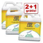 Purina Tidy Cats 7 l/20 l areia aglomerante em promoção: 2 + 1 grátis!