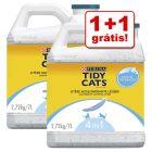 Purina Tidy Cats 7 l/20 l areia aglomerante em promoção: 1 + 1 grátis!