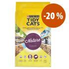 Purina Tidy Cats Nature Classic areia aglomerante com grande desconto!