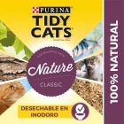 Purina Tidy Cats Nature Classic areia aglomerante para gatos