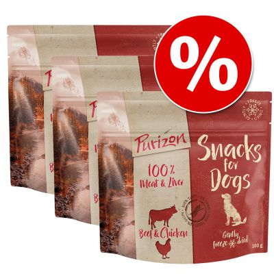 Purizon Dog Snacks Grain-Free Saver Pack 3 x 100g