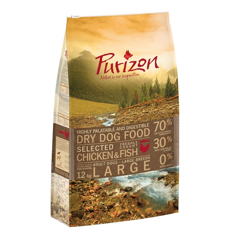 Purizon Adult Large Breed Dog – Grain-Free Chicken & Fish