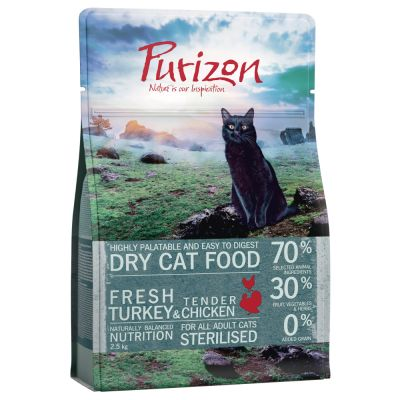 Purizon Adult Sterilised dinde, poulet sans céréales pour chat