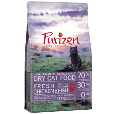 Purizon Adult Sterilised, poulet & poisson