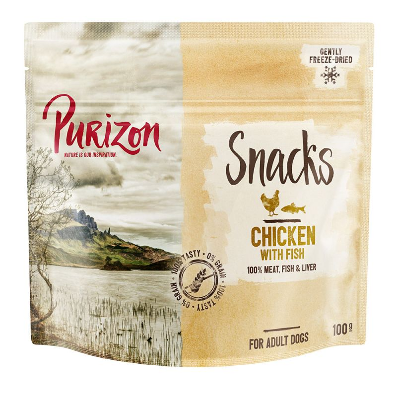 Purizon Dog Snacks - Grain-Free Chicken with Fish