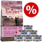 Purizon Kitten ração para gatos 400 g + Cosma Nature Kitten 6 x 70 g - Pack de experimentação misto