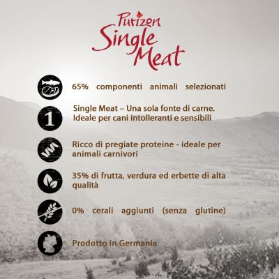 Purizon Single Meat Adult Agnello con piselli - senza cereali