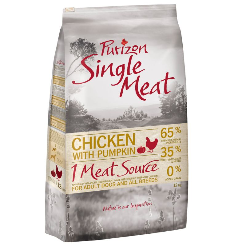 Purizon Single Meat Adult Chicken & Pumpkin - spannmålsfritt