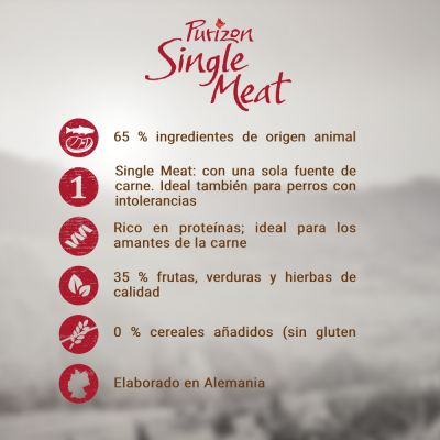 Purizon Single Meat Adult con cordero y guisantes