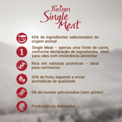 Purizon Single Meat Adult cordeiro e ervilhas