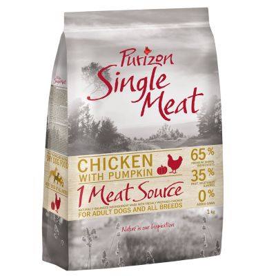 Purizon Single Meat Adult Dog - Grain-Free Chicken with Pumpkin