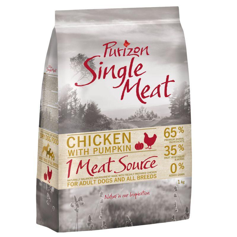Purizon Single Meat Adult Dog – Grain-Free Chicken with Pumpkin