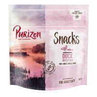 Purizon Snack per gatti Anatra con Pesce - senza cereali
