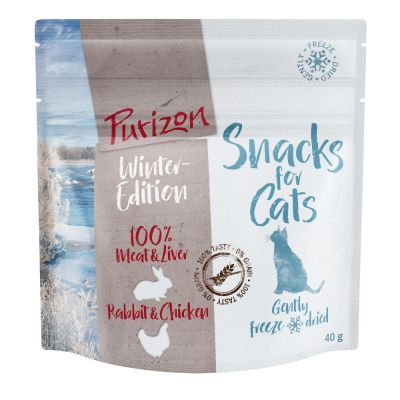 Purizon Snack Winter Edition Rabbit & Chicken - spannmålsfritt
