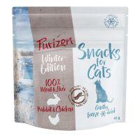 Purizon snacks de conejo y pollo para gatos - Edición de invierno