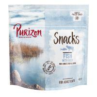 Purizon snacks de pescado con vacuno para gatos