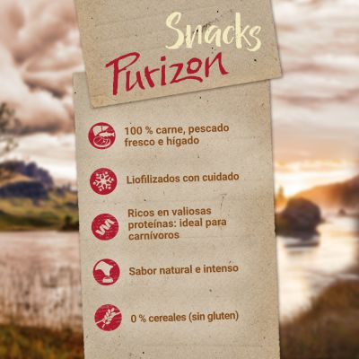 Purizon snacks de pescado y vacuno para gatos
