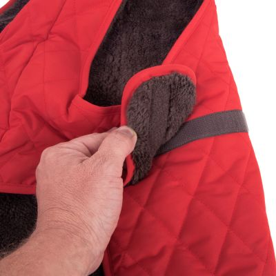 Quilted Dog Coat - Red