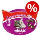 20% rabatt! Whiskas kattesnacks!