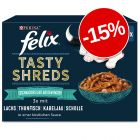 "15% reducere! Felix ""Tasty Shreds"" Pliculețe 12 / 44 x 80 g"