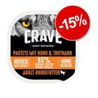 15% reducere! 150 g Crave Adult Dog Pate hrană umedă pentru câini